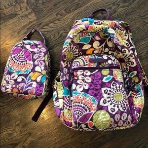 Vera Bradley backpack & lunch box